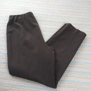 J.JILL PM Taupe Gray Brown Ponte Slim Leg Pants